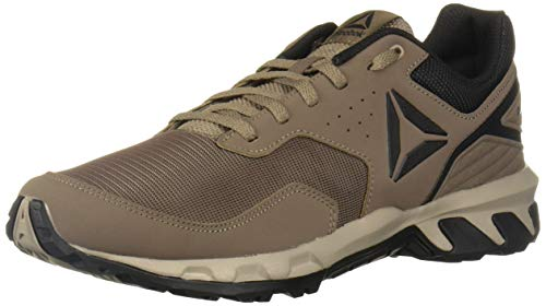Reebok Men's Ridgerider Trail 4.0 Walking Shoe, Grey/Beach Stone/Black, 12 M US