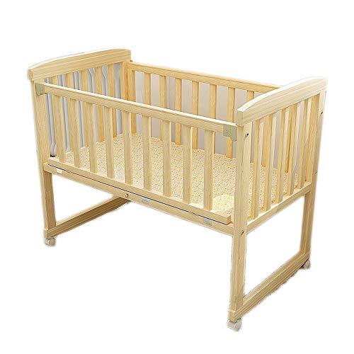 Baby tragbares Babybett Multifunktions holz baby schaukel kinderbett stubenwagen bett sleeper born portable keine sprühfarbe kleinkinderbett Krippe ( Farbe : Natural , Größe : 95*57.5*78cm )