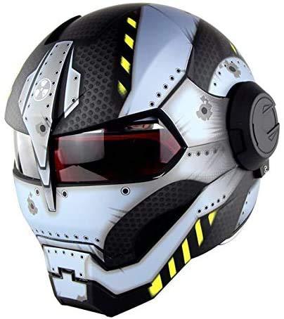 ZCY Casque de Moto Hors Route Moto Full Face Casco Moto Casque Flip Ouvert, Transformers Casque D.Ö.T Certification,XL:(60~61cm)