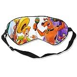 Monstre Sc-ooby-Doo Sleep Mask for Men Women, Comfortable Eye Cover Soft Eye Mask, Adjustable Blindfold for Travel/Nap/Sleeping