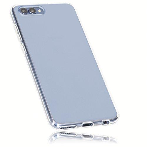 mumbi Funda Compatible con Honor View 10 Caja del teléfono móvil, Blanco Transparente