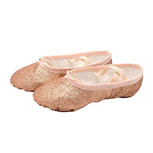 Xinvivion Ballerine da Donna, Ballerine Scintillanti per Bambina, Scarpe da Ginnastica per Yoga, Pantofole da Danza del Ventre con Fondo Morbido