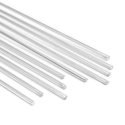 DJY-JY 10pcs de 2 mm de diámetro 35cm 13.8inch Longitud de Aluminio Varillas for soldar Alambre electrodo de Soldadura