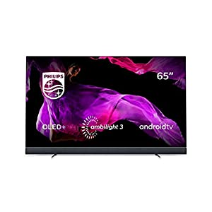 Philips 65OLED903/12 164cm (65 Zoll) OLED TV (Ambilight, 4K Ultra HD, Triple Tuner, Android Smart TV) Silber