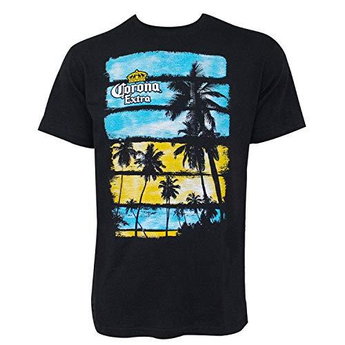 Corona Extra Corona de Las Palmeras Pop Top abrebotellas Camiseta X-Large Negro