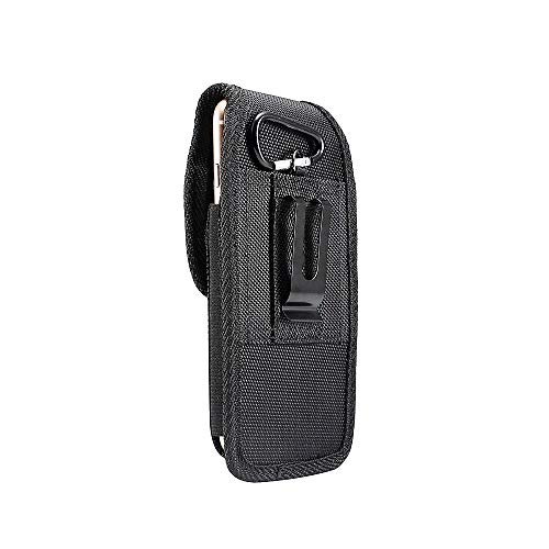 DFV mobile - Belt Case Cover Nylon with Metal Clip Business for HomTom S12 - Black