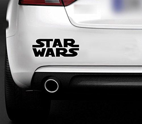 Star Wars coche Van de pared Ventana Muebles de adhesivo de vinilo para ordenador portátil en negro