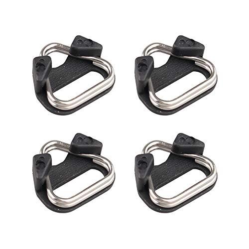 Futheda 4 anillas para cámara, con gancho triángulo dividido + tapa protectora de plástico compatible con telémetro DSLR sin espejo