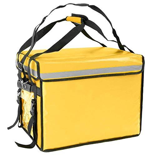 CityBAG - Bolsa isotérmica 50 x 39 x 39 cm Amarilla para Entrega de Pedidos de Comida en Moto y Bicicleta