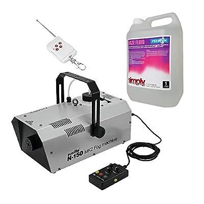 Eurolite N-150 MK2 Fog Machine Smoke Machine Timer + Wireless Remote DMX Bundle