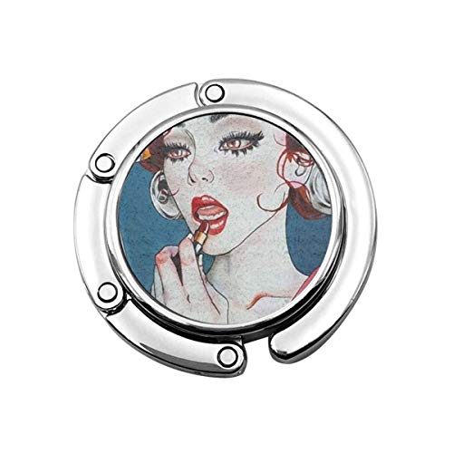 Netter Faltbarer Geldbeutel-Aufhänger für Tisch, Geldbeutel-Haken Smart Knife Mirror Gotik Gothic Women Girl