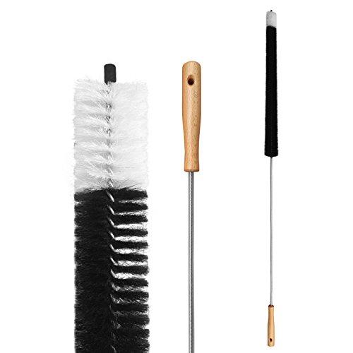 KELOPEST® Brosse radiateur (120cm) - Poils en poils de chèvre - Brosse chauffante flexible pour un nettoyage facile Tous les radiateurs