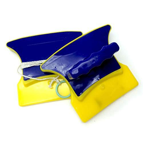 Greatangle Productos Sanitarios Limpiacristales de Doble Cara Limpiacristales Limpiacristales magnético Amarillo y Azul