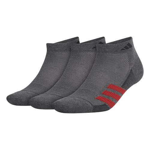 adidas Calcetines deportivos Superlite Stripe Ii de corte bajo para hombre (paquete de 3)