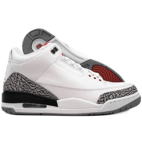 f287b7b51254 Jordan Nike Air 3 Retro III 2011 White Red Grey Mens Basketball Shoes 136064