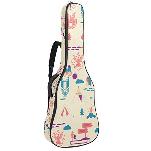 Bolsa para guitarra con diseño de águila Scout acolchada para guitarras acústicas,...