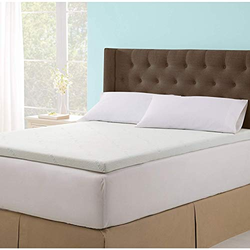 Soothing Cooling Gel Infused 2.5 Inch Ultra-Supportive and Body Cradling Memory Foam Mattress Topper with Removable and Washable Zippered Tencel Cover - Self Magazine Editors Choice Award - Twin XL