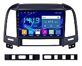ZBHWYD Adecuado para 05-12 Hyundai Santa Fe Antiguo Modelo de Navegación de Red Completa, Android 10 8 Core 4 + 64g Coche Radio Multimedia Player GPS navegación