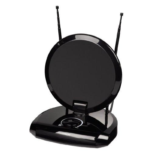 Thomson ANT1731 DVB-T/DVB-T2 Zimmerantenne für Radio/TV (für analogen/digitalen Empfang, UKW) schwarz