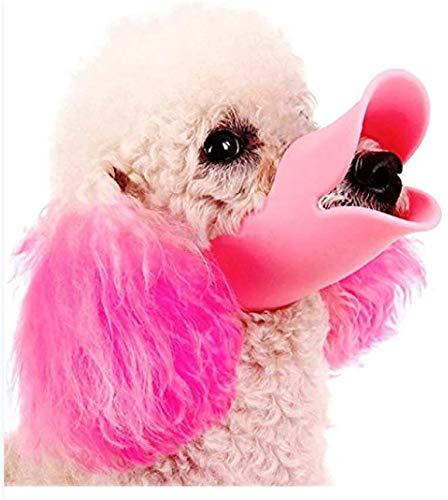 Bozal ajustable para perros de razas pequeñas y medianas, de silicona antimordeduras para mascotas con forma de boca de pato, lo mejor para evitar mordeduras, gritos, masticar y ladrar