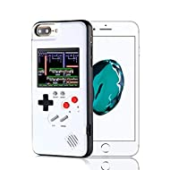 Game Console iPhone Case, Handheld Game Console Case Cover with 36 Games Phone Case (iPhone 6p/7p/8p, White)