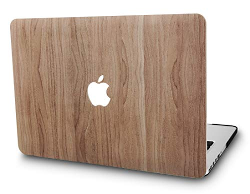 """KECC Laptop Case Compatible with Old MacBook Pro 15"""" Retina (-2015) Plastic Case Hard Shell Cover A1398 (Pine Wood 2)"""