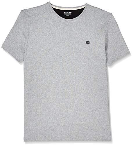 Timberland SS Dunstan RV Crew Slim tee Camiseta, Gris (Medium Grey Heather 052), Small para Hombre