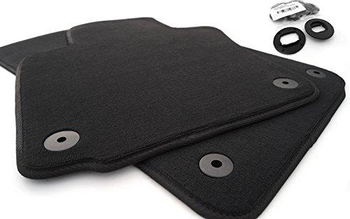 Fußmatten passend für Golf 5 6 Velours Automatten Autoteppich 2-teilig vorn schwarz