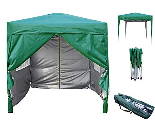 mcc direct Premier 2x2m Waterproof Pop-up Gazebo with Silver Protective Layer Marquee Canopy (WS) (Green)