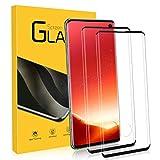 NONZERS 2 Pezzi Vetro Temperato per Samsung Galaxy S10, 3D Curvo Copertura Completa Pellicola Vetro, Durezza 9H Anti-Graffo, Ultra-Clear Pellicola Protettiva per Samsung Galaxy S10