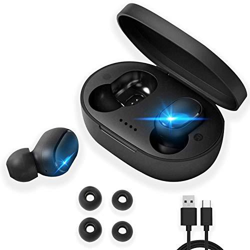 Cuffie Bluetooth 5.0 - Auricolari e Microfono Bluetooth senza fili con Ricarica Rapida USB e Riproduzione fino a 6 ore Compatibile con Android iOS Smartphone e PC