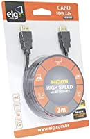 Cabo HDMI 2.0, 3m HS2030, 3D Ready, 4K UltraHD, High Speed com Ethernet, Full HDTV, Conectores Banhados a Ouro 24K