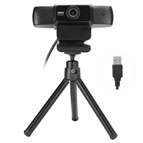 wendeekun Computer Camera 1080P High Definition 360° Rotatable Video Conference Webcam Online Class,Live Camera Computer Camera with Microphone