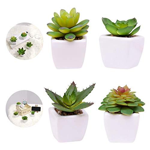 Cskunxia Kunstpflanze 4 Stück,künstliche Pflanze,Deko Schlafzimmer,Wohnzimmer,Haus,Office,Kinderzimmer,Badezimmer