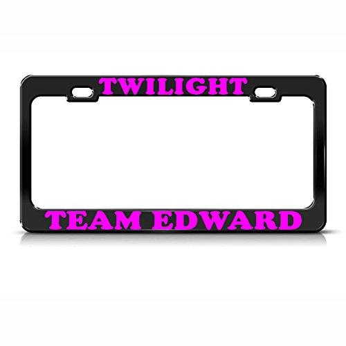 Moon Twilight Team Edward Nero Metallo Resistente Targa di immatricolazione SUV Tag Border Perfetto per Uomini Donne Auto Garadge Decor