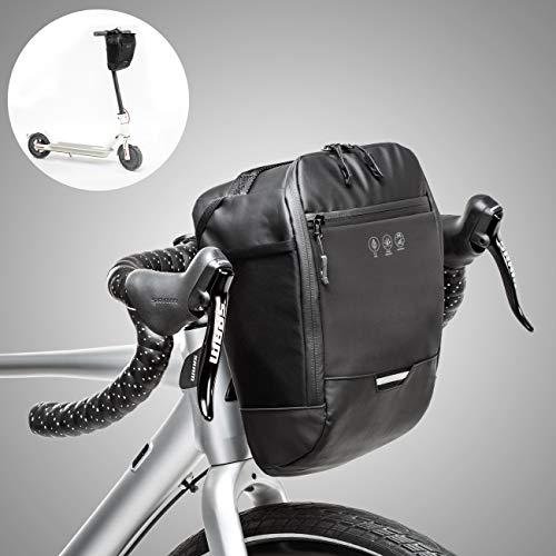 CCKOLE - Borsa Impermeabile per Manubrio della Bicicletta, Riflettente, per Mountain Bike, Bici da Corsa,antistrappo, Borsa per Il Telaio della Bicicletta, Grande capacità, Borsa per Scooter