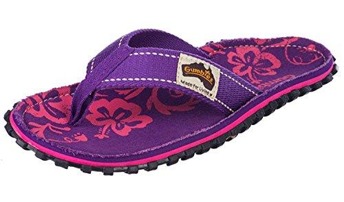 Gumbies , Herren Dusch- & Badeschuhe, Gr.-40 EU, Purple Hibiscus