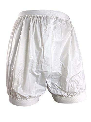 Haian Inkontinenzhose für Erwachsene, aus Kunststoff, Weiß, Größe XL