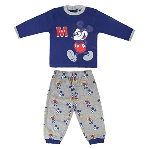 Artesania Cerda Largo Mickey Conjuntos de pijama, Azul (Azul