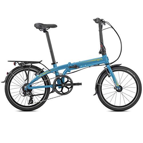 Tern Faltrad Link C8 Fahrrad 8 Gang 20 Zoll Alu Kettenschaltung Shimano Ständer Gepäckträger, CB19PFCO03HDR, Farbe Blau