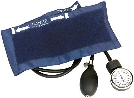 Ever Dixie EMS Deluxe Aneroid Sphygmomanometer Blood Pressure Cuff (Black)