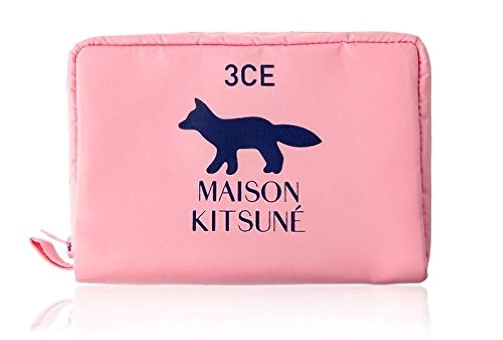 現実には額嫌がる3CE MAISON KITSUNE POUCH #PINK ポーチ ピンク