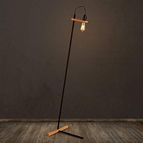 Busirsiz Lámparas de pie, Led retro Industrial viento del hierro de la sala creativo lámparas de madera lámpara de pie, Eye-El cuidado de luz vertical