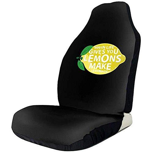 MJDIY autostoelbescherming, Le Da Limons kan het logo van de limonade voor de voorstoelen worden aangepast, 2 stuks