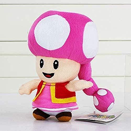Pliers Super Mario Juguete 17cm Super Mario Mario Peluche Toadette Toad Girl Mushroom Relleno Muñeca para niños