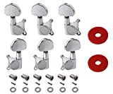YMC TP20 Series 6 Pieces Guitar Parts 3 Left 3 Right Machine Heads Knobs Guitar String Tun...