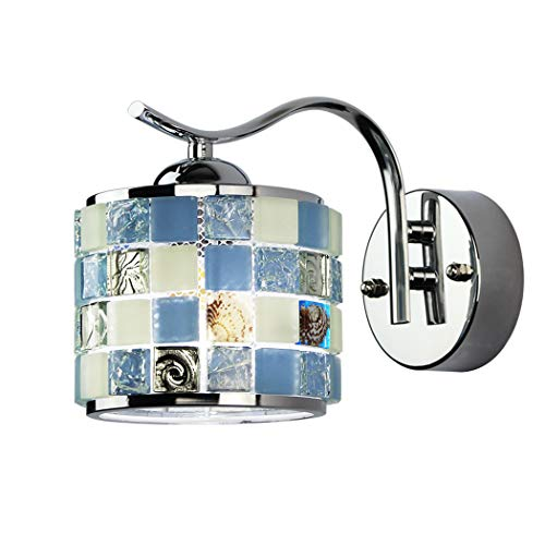 ZZXX Tiffany Lámpara de Pared Aplique de la Pared mediterránea Aplique de Pared Linterna marroquí Mosaico Lámpara de Pared de Vidrio Pintado Dormitorio Sala de Estar Loft Cafe Bar Apliques E27