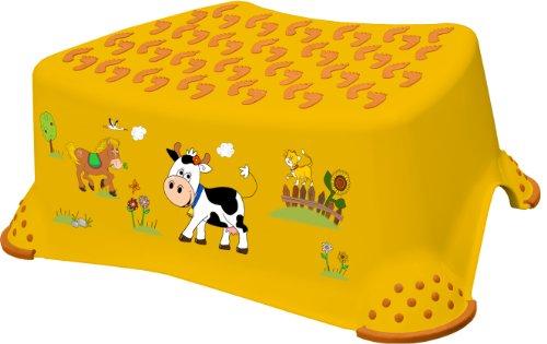 """keeeper 18642456063 tomek """"funny farm"""" tritthocker mit anti-rutsch-funktion sunny apricot"""