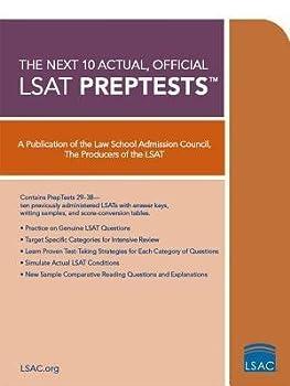 By Law School Admission Council   Author   [ { The Next 10 Actual Official LSAT Preptests } ]Aug-2007 Paperback