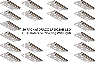 LFU 20 Pack of Draco Brass LED Hardscape Recessed Paver Lights. Built in 1.5W LED. Low Voltage. Antique Bronze Finished. Retaining Wall Lights. LF5022AB-LED. 5.5 Inch Length